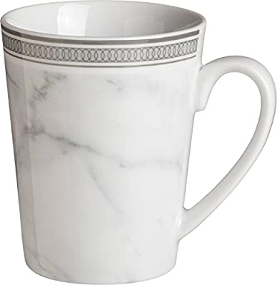 6 Pack Of Porcelain Coffee-Tea Mugs Silver Marble effect