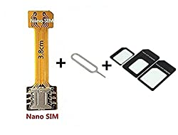 Anonymous New Hybrid SIM Slot Adapter, Avails You To Run 2 SIM And Micro SD Card, All At A Time (Nano to Nano Sim Slot)