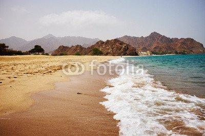 "Leinwand-Bild 80 x 50 cm: ""coast of Oman"", Bild auf Leinwand"
