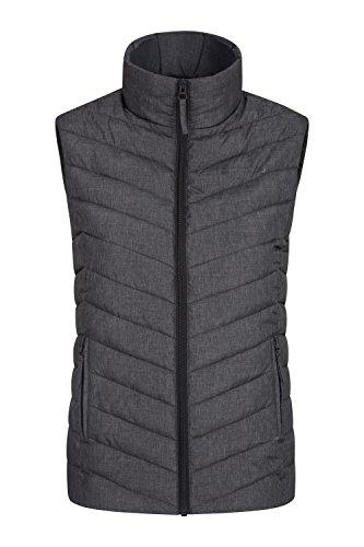 Mountain Warehouse Windemere Gepolsterte Damenweste - Körperwärmer für mehr Wärme, Taschen, Damenweste mit durchgehendem Reißverschluss - Für Reisen im Winter, Camping Kohle DE 34 (EU 36) -