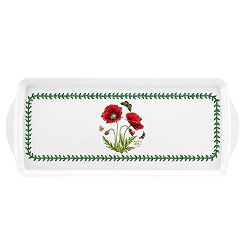 Botanic Garden Melamine Sandwich Tray - Poppy Motif by Portmeirion (Tray Sandwich Botanic Garden)