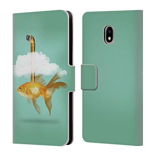 fizielle Vin Zzep Periskop Goldfisch Fisch Brieftasche Handyhülle aus Leder für Samsung Galaxy J3 (2017) ()