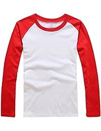 Baymate Unisexo Más El Tamaño Beísbol Camisa Con Manga Larga