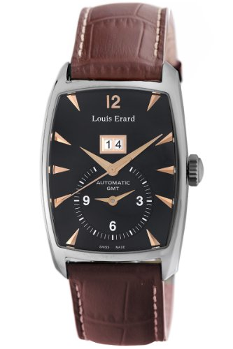 LOUIS ERARD 1931 82210AA02.BDCL50 GENTS BROWN CALFSKIN 34MM AUTOMATIC DATE WATCH