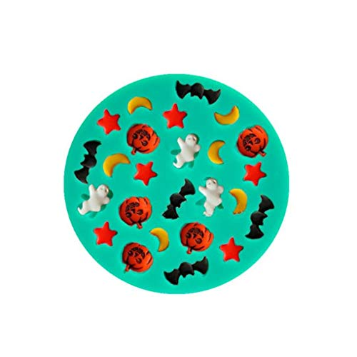 Halloween Monde Sterne Kürbisse Geister Fledermäuse Silikon Fondant Kuchen Formen Schokolade Formen Backwerkzeuge
