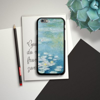 Apple iPhone 5c Housse Étui Protection Coque Nénuphars Claude Monet Tableau CasDur noir