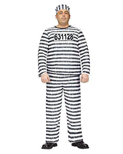 Horror-Shop Sträfling Kostüm Jailbird XL