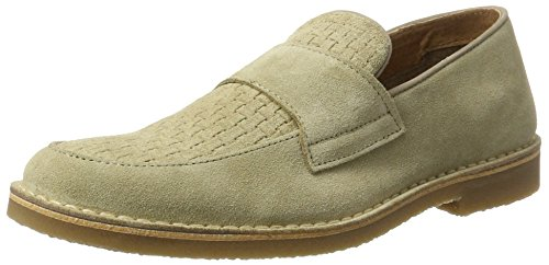Selected Herren Shhroyce New Light Suede Penny Loafer Slipper Beige (Oyster Gray)