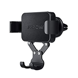 Mpow Car Phone Holder Gravity Car Mount, One-Hand Operation Air Vent Car Cradle, Auto-Lock, Auto-Release for iPhone Xs MAX/XS/XR/X/8s/8/7/6 Plus, Galaxy S9/S8/S7, Huawei Xiaomi HTC Sony and Others