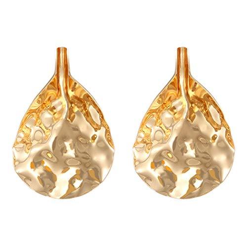 WYSP-EH 925 Silber Nadel Perle Metall Mode europäischen und amerikanischen Stil Mode Persönlichkeit komplexe Licht Ohrringe kreative Ohrringe Ohrringe Damen runden Anhänger Ohrringe,4 - 4 Licht Runde Anhänger