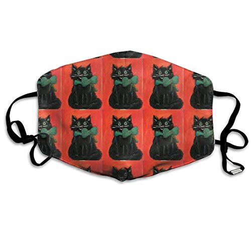 Daawqee Staubschutzmasken, Black Cat Halloween Kitty Breathe Healthy Face Mask.Comfortable, Reusable - Filters Dust, Pollen, Allergens, Flu Germs with Antimicrobial Germ Killing