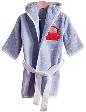 Niños Albornoz, bata Rizo con capucha para niña y niño, diferentes tamaños y colores, certificado Oeko Tex Standard...