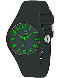 Marea nineteen small Round Face reloj analógico - Black/Black Green Dial