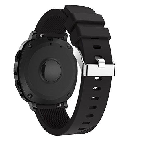 Ouneed® Uhrenarmbänder , Christmas gift Sport weichen Silikon Ersatz Armband Handschlaufe für Samsung Gear Sport (Schwarz)