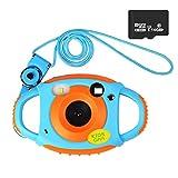 Funkprofi Kamera für Kinder Kinderkamera Fotoapparat Digital Camera Kid Cam Mini Camcorder 5 Megapixel 1,77 Zoll Display Geschenk und Spielzeug für Kinder (Orange mit 16GB TF Karte)