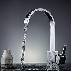 Auralum Niederdruck Wasserhahn Mit Gro C Form Einhebel Wasserfall Fr Sple  Kche With Grohe Niederdruck Armaturen Kche.