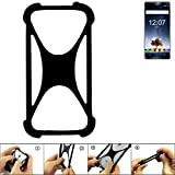 K-S-Trade Handyhülle Oukitel K6 Silikon Schutz Hülle Cover Case Bumper Silikoncase TPU Softcase Schutzhülle Smartphone Stoßschutz, schwarz (1x)