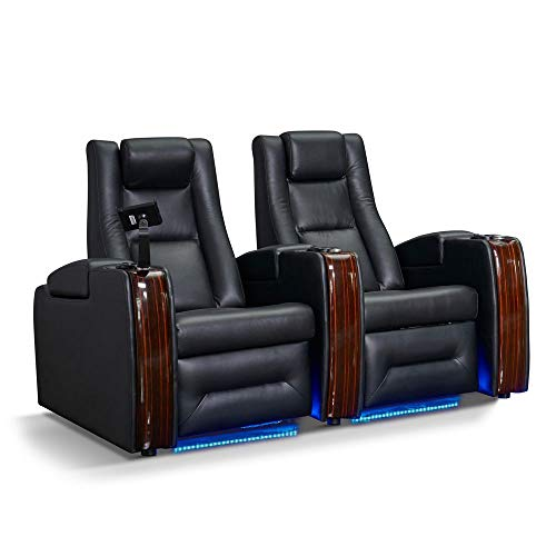 Zinea Kinosessel Sci-Fi - 2 Sitzer - Echtleder, elektrisch verstellbar, LED Becherhalter, Ambientebeleuchtung, Kinosofa, Kinositz - Sofort Lieferbar