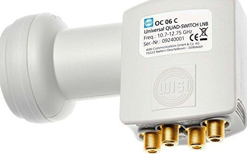 WISI Speisesystem OC06C, Universal Quad-Switch LNB