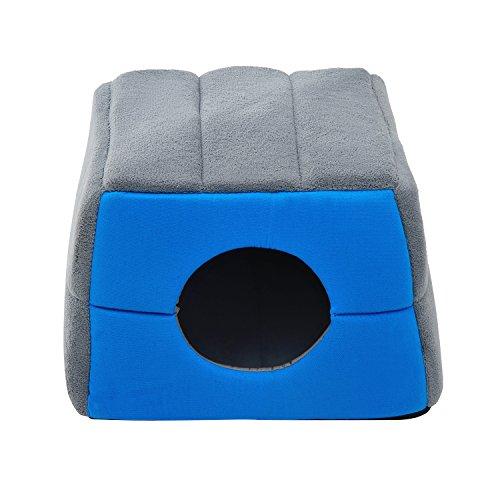 PawHut® Hundebett Katzenhöhle 2 in 1 Hundehütte Katzenbett Schlafplatz Höhle (Blau) - 3