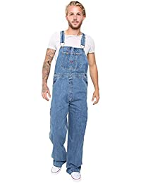 0a3ff57aa5c9 Skylinewears Men's Denim Dungarees Jeans Bib and Brace Overall Pro Heavy  Duty Workwear Pants