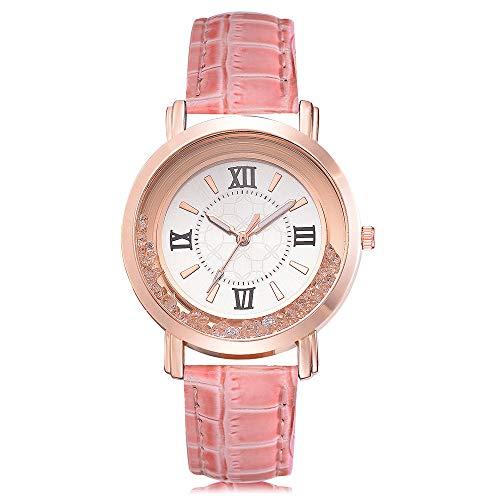 Allegorly Mode Klassisch Unisex Damenuhren Herrenuhren PU Lederband/Legierung Uhrenarmband Edelstahl Analog Diamant Armbanduhren Mode Romantisch für Männer Frauen
