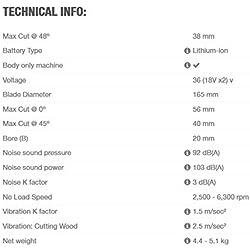 Makita DSP 600 Zj 2 x 18 V Scie Plongeante sans Fil 165 mm Coffret Makpac 4 - Machine seule (sans Batterie Ni Chargeur)