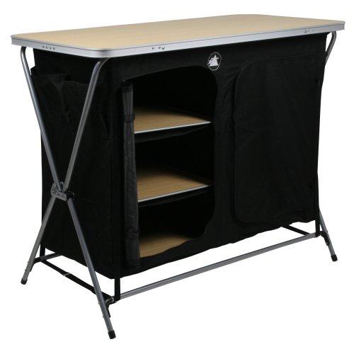 41WAImptnzL. SS500  - 10T Flapbox - Camping cupboard, 6 draws + top storage box, foldable steel frame, 53x110x90 cm