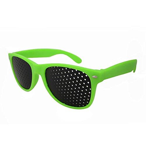 Preisvergleich Produktbild Huayang Neue Augenoptik Sehvermögen Improver Splintloch Glas Anti Müdigkeit Stenopeic Brille (grün)