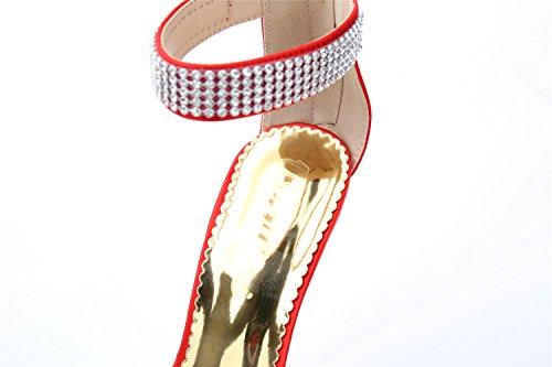 SEXYHER Mode 3.5IN Talons Bureau De Sandales Femmes Chaussures Rouge