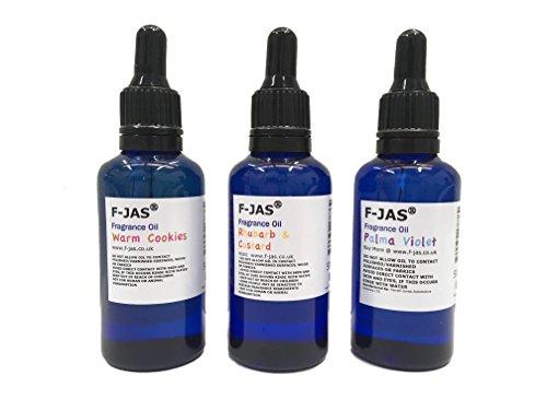 F-JAS Duftöl 50ml (Pack von 3oder 6), Marzipan, 3 Stück