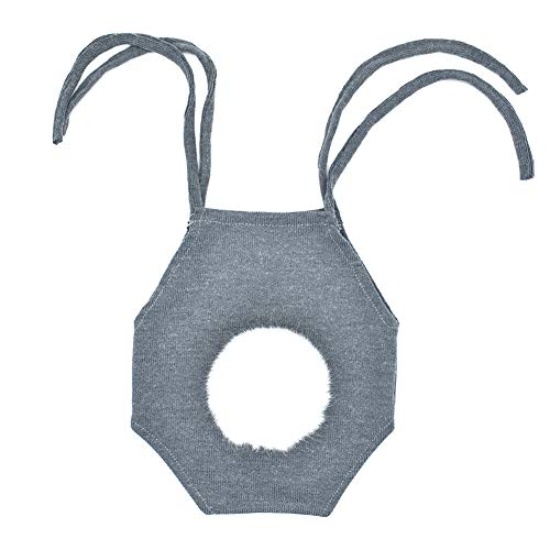 FeiyanfyQ Babykostüm für Neugeborene, niedliches Kaninchen, gestrickt, weich, -
