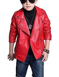 d090533d20 Amazon.it: giacca ecopelle - Rosso / Bambini e ragazzi: Abbigliamento