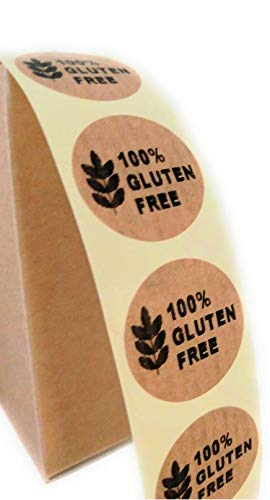 Etiquetas Gluten free en kraft adhesivo 500 uds...