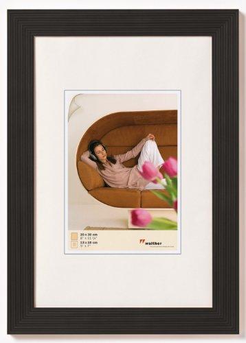 walther HI015B Grado Holzrahmen Format 10 x 15 cm, schwarz (Bilderrahmen 11x11 Quadratische)
