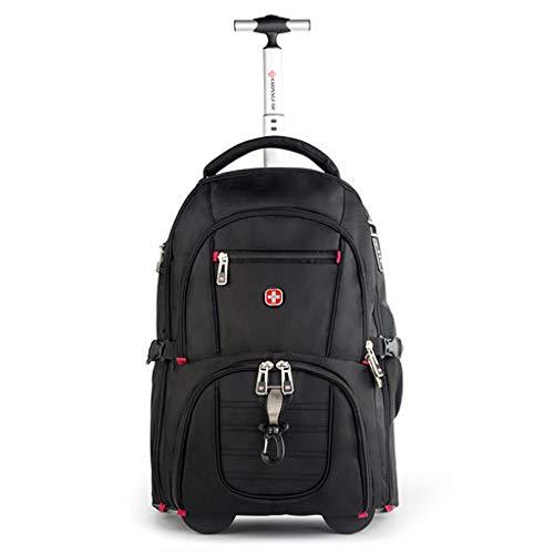 Schwarz Business Tragbare Trolley Reisetasche, Große Kapazität Rädern Laptop Tablet Trolley Rucksack, Gepäcktasche Tote Bag Großhandel Tasche (Farbe : Schwarz, größe : M) (Tote Bag Großhandel)
