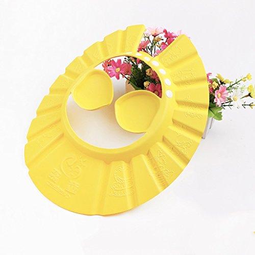 Nourrissons et les enfants Shampooing pour bébés Cap Shampoo Cap peut être ajustée pour augmenter le plafond de douche étanche Thickening enfants Baignade enfants Earmuffs ( couleur : Le jaune )