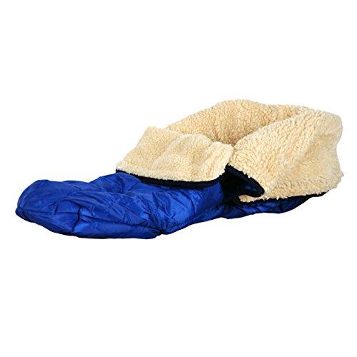 Teddy Schlitten - Fußsack blau für Kinder Universeller Schlittensack für den Winter