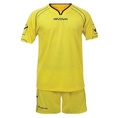 Givova Fußball Set Trikot mit Short Kit Capo , gelb