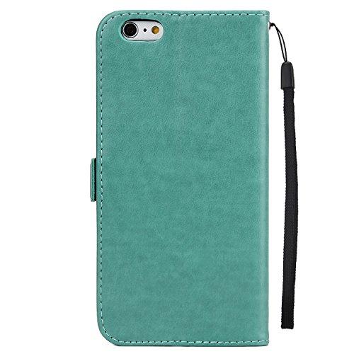 Best Choise Flip Case per iPhone 6Plus e 6S Plus Fata ragazza in rilievo PU Pelle Shell orizzontale stand portafoglio cover w Lanyard in grande qualità verde