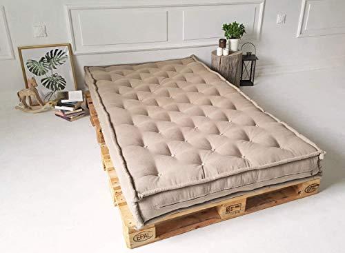 Home of Wool/Handgefertigt 100{a24395d711ae333d2fe3f80cb1a7e94e2af673e43251545eaf891c99cfd695dc} Wolle gefüllt Matratze/Mattress/SINGLE/SINGLE XL/DOUBLE/KING oder benutzerdefinierte Größe/Baumwolle, Leinen, Mischung, Wolle/Natürliches Bett