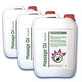 Massageöl neutral (3x 10L = 30 Liter) Basisöl für Spa und Wellness, Pharmaqualität (Ph.Eur. / DAB)