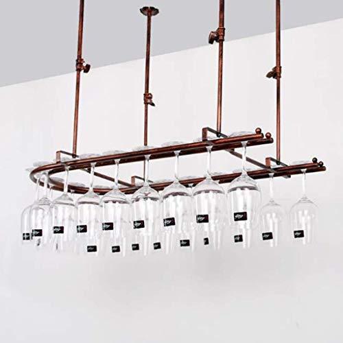 OYYO Wand befestigt Glasrack - Hält Jede Art von Glas Wein oder Biergläsern (Color : Bronze, Size : 80x25cm) -