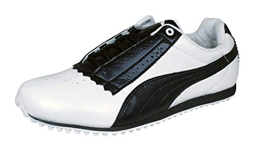 Puma Pin Cat Damen-Golfschuhe-White-40.5