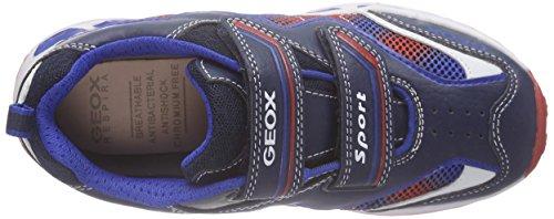 Geox J Shuttle Boy A, Scarpe da Ginnastica Basse Bambino Blu (Navy/Royal)