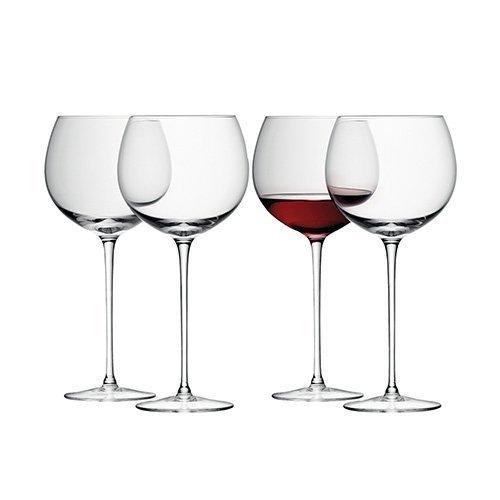 LSA International 570 ML vin Ballon en Verre, Transparent (Lot de 4)