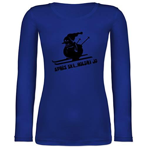 Shirtracer Après Ski - Ski Schneemann - S - Blau - BCTW071 - Langarmshirt Damen