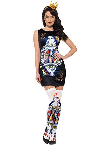 Smiffys Damen Herz-Königin Spielkarte Kostüm - Ass Karte Kostüm