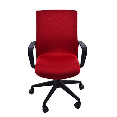 arthomer Stuhlhusse, abnehmbar, waschbar, Schutz für Ihren Bürostuhl, Drehstuhl und Schreibtischstuhl (nur Bezug enthalten) Medium Weinrot