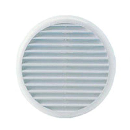 La Ventilazione - Griglia Tonda D/120 ad Incasso con Rete Antinsetti Foro D/97 per Aerazione Canalizzata Cappa Cucina in Pvc, Bianco